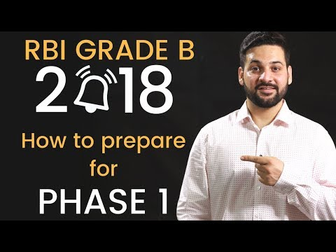 RBI Grade B 2018 - How to Prepare for Phase 1
