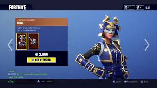 NEW Musha & Hime Skins! - Fortnite Item Shop (August 23)