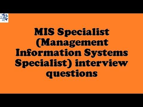 Mis Specialist Management Information Systems Specialist Interview