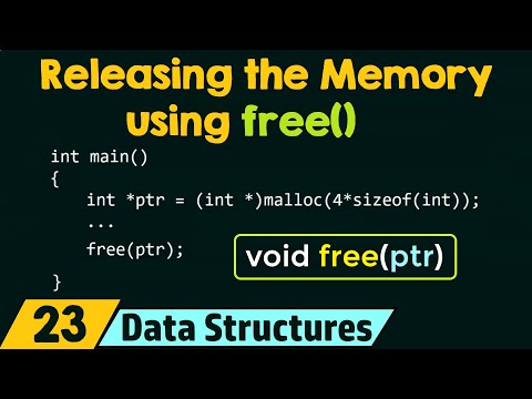 Releasing the Dynamically Allocated Memory using free()