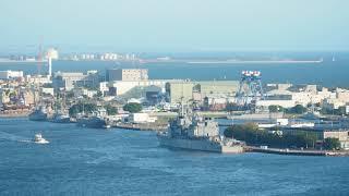 2021.05.14 LST-230中邦軍艦操演結束停靠旗津