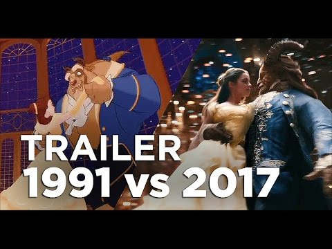 Beauty and the Beast Full Trailer - 1991 vs 2017 Comparison