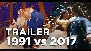 beauty and the beast full trailer 1991 vs 2017 comparison side by side