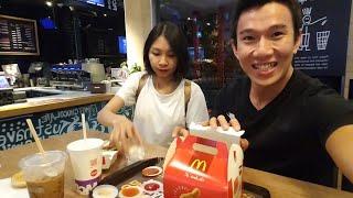 1h sáng ĐI ĂN McDonald CHO MAU MẬP - ^^ Junie Ryan Long Fitness