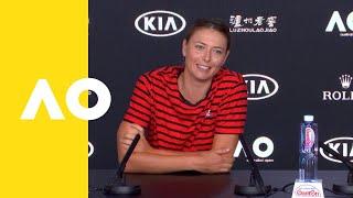 Maria Sharapova press conference (1R)   Australian Open 2019