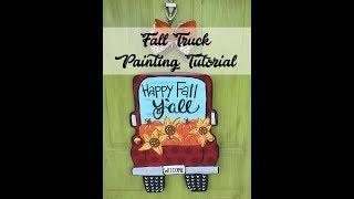 Fall Truck Door Hanger Painting Tutorial