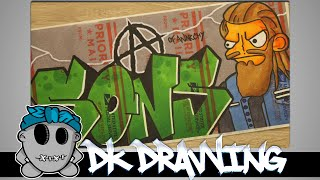 Graffiti Speed Drawing #7 - Sons of Anarchy