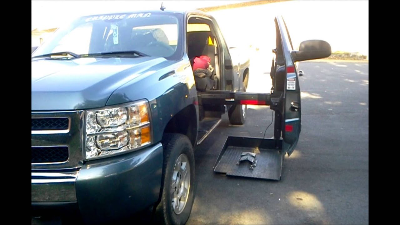 wheelchair lift for truck stackable resin patio chairs my handicap accessible youtube