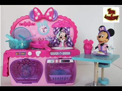 minnie bowtastic kitchen playset + disney minnie mouse | toys