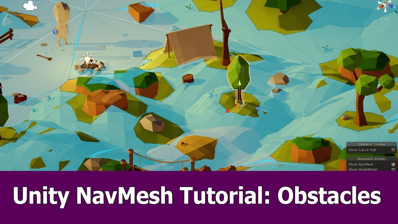 Unity Navmesh Tutorial : Obstacles