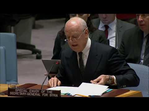 Staffan de Mistura - Special Envoy for Syria briefs the UN Security Council