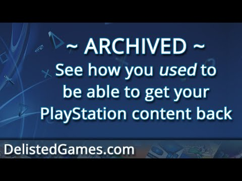 How to get your Delisted PlayStation games back! - DelistedGames.com
