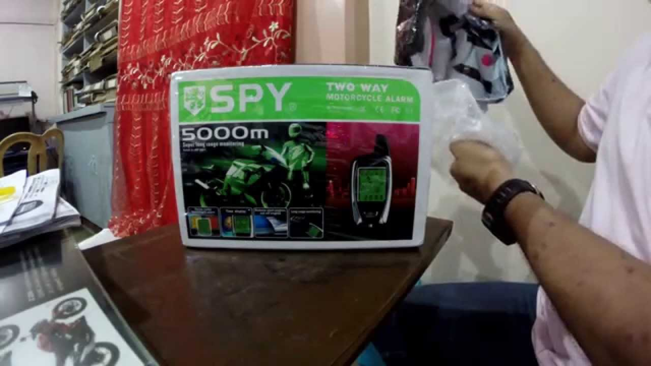spy 5000m motorcycle alarm unboxing youtube. Black Bedroom Furniture Sets. Home Design Ideas