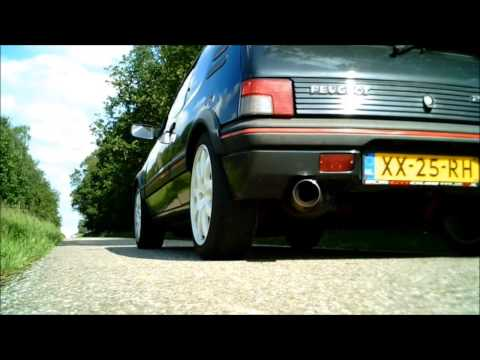 205 Gti turbo exhaust sound + driving
