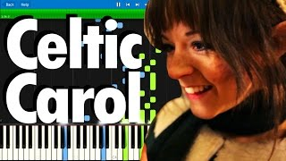 Lindsey Stirling - Celtic Carol   Synthesia piano tutorial