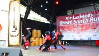 Jabbawockeez at 2013 Great Santa Run