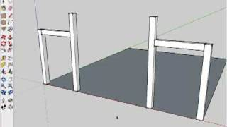 Drawing A Timber Frame In Sketchup (part 2)