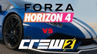 FORZA HORIZON 4 vs THE CREW 2 , LAMBORGHINI HURACAN comparado