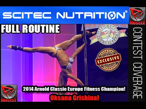 Oksana Grishina Complete Fitness Routine At The 2014 Arnold Classic Europe!