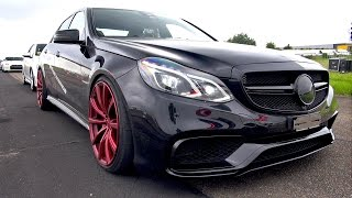 850HP Mercedes-Benz E63 AMG LA Performance - REVS & DRAG RACE!