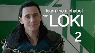 learn the alphabet with loki 2