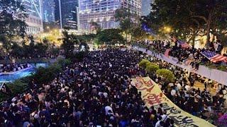【直播回放】香港遮打花園「醫護抗暴」集會