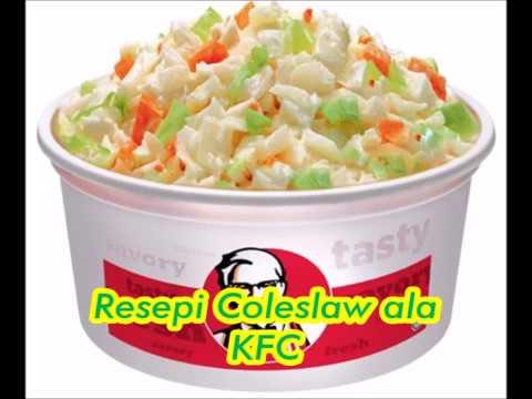 Resepi Coleslaw Salad Ala Kfc Homemade Super Duper Simple Youtube