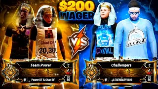 2 TOXIC LEGENDS challenged DF for $200 (NBA 2K20)