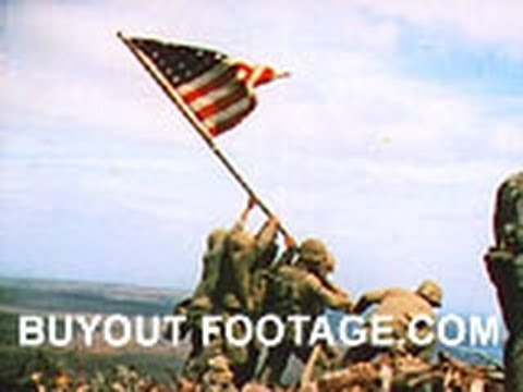 HD Stock Footage WWII Iwo Jima Color - To the Shores of Iwo Jima R1