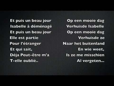 Isabelle Je t'aime - Les Poppys + Lyrics NL & FR Dutch Nederlands