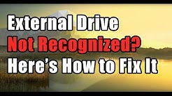 How to Fix External Drive Not Recognized Error in Windows