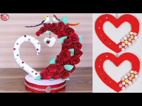 10 DIY - Heart Room Decor !!! Heart Shaped Gift Ideas Making at Home
