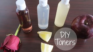 3 DIY Natural Face Toners | Rose + Lemon + Vinegar