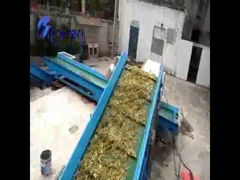 shredder line for organic waste to produce compost and bio-gas