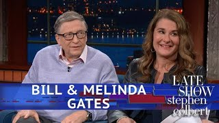 "On the day of the Bill & Melinda Gates Foundation's annual letter, Bill and Melinda Gates give their (admittedly biased) view on the proposed 70% marginal tax rate.  Subscribe To ""The Late Show"" Channel HERE: http://bit.ly/ColbertYouTube For more content from ""The Late Show with Stephen Colbert"", click HERE: http://bit.ly/1AKISnR Watch full episodes of ""The Late Show"" HERE: http://bit.ly/1Puei40 Like ""The Late Show"" on Facebook HERE: http://on.fb.me/1df139Y Follow ""The Late Show"" on Twitter HERE: http://bit.ly/1dMzZzG Follow ""The Late Show"" on Google+ HERE: http://bit.ly/1JlGgzw Follow ""The Late Show"" on Instagram HERE: http://bit.ly/29wfREj Follow ""The Late Show"" on Tumblr HERE: http://bit.ly/29DVvtR  Watch The Late Show with Stephen Colbert weeknights at 11:35 PM ET/10:35 PM CT. Only on CBS.  Get the CBS app for iPhone & iPad! Click HERE: http://bit.ly/12rLxge  Get new episodes of shows you love across devices the next day, stream live TV, and watch full seasons of CBS fan favorites anytime, anywhere with CBS All Access. Try it free! http://bit.ly/1OQA29B  --- The Late Show with Stephen Colbert is the premier late night talk show on CBS, airing at 11:35pm EST, streaming online via CBS All Access, and delivered to the International Space Station on a USB drive taped to a weather balloon. Every night, viewers can expect: Comedy, humor, funny moments, witty interviews, celebrities, famous people, movie stars, bits, humorous celebrities doing bits, funny celebs, big group photos of every star from Hollywood, even the reclusive ones, plus also jokes."