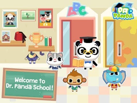 Dr. Panda School Part 3: First Aid Room - iPad app demo for kids - Ellie