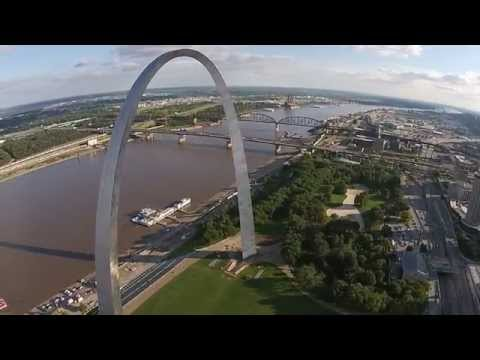 St  Louis Arch drone video