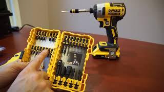 DEWALT 30pc Impact Screwdriving Bit Set and Magnetic Screw Lock Demo DWA2FTS30IRC