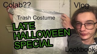A Late but Fun Halloween Special - Trash Bag Costume, Lookbook, Vlog