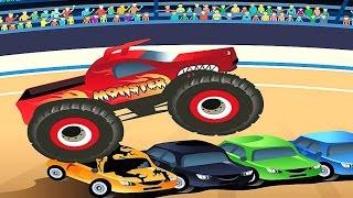 МОНСТР ТРАК. Мультик для детей про Монстр Трак - гонки Монстр ДЖЕМ онлайн. Monster Truck races