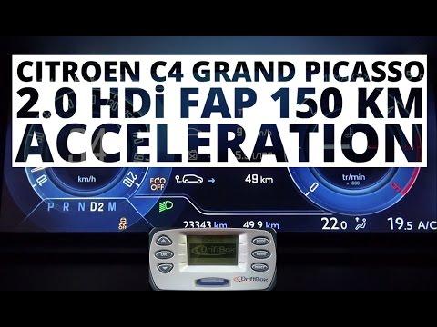 Citroen C4 Grand Picasso 2.0 HDi 150 hp (AT) - acceleration 0-100 km/h