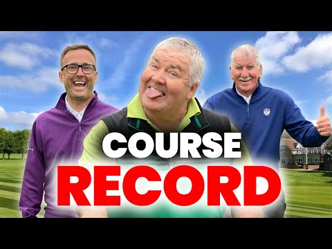 NEW GOLF CLUBS NO NEED HE GOT A NEW COURSE RECORD
