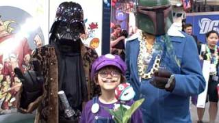 Me Waluigi with Pimp Darth Vader and Boba Fett  In Leisure Suits