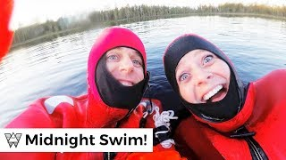 SWIMMING at The Arctic Circle?! Arriving to Rovaniemi Finland