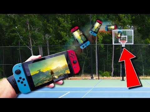 IMPOSSIBLE NINTENDO SWITCH TRICK SHOTS (Durability Test!)
