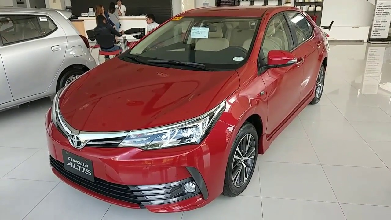 2018 Toyota Corolla Altis 1.6V AT _ Red (Philippines