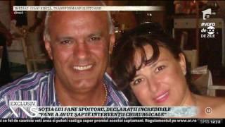 """Elena Titişor, declaraţii incredibile la un an de la moartea soţului ei, Fane Spoitoru: Mare par"""""""