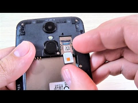 LG K4 (2017) - How to Insert SIM Card and Memory Card