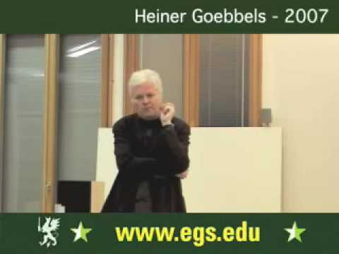 Heiner Goebbels. Composing and Directing for Theatre 2007 8/9