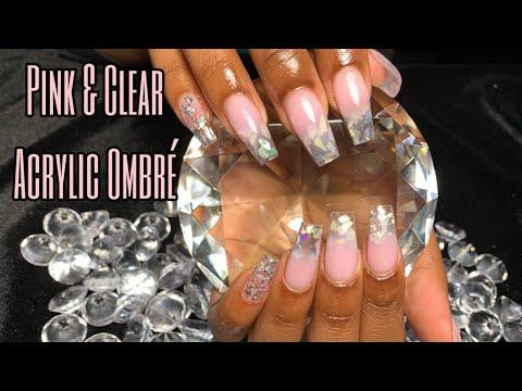 Acrylic Nail Tutorial | Pink & Clear Encapsulated Ombré Set thumbnail